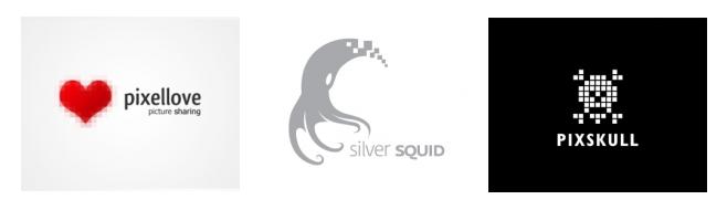Логотипы в стиле пиксели
