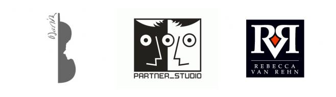 Логотип в стиле Половинка