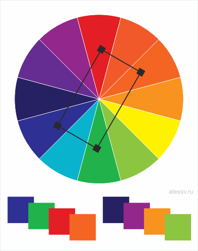 похожие цветовые схемы.