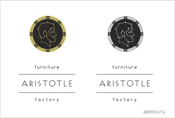Sozdaem_logotype_dlya_mebelnoy_fabriki_v_drevnegrecheskom_style_Создаём_логотип_для_мебельной_фабрики_второй_вариант_добавл_написание_аристотель