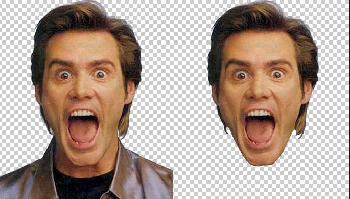 отделяем лицо от тела в фотошоп