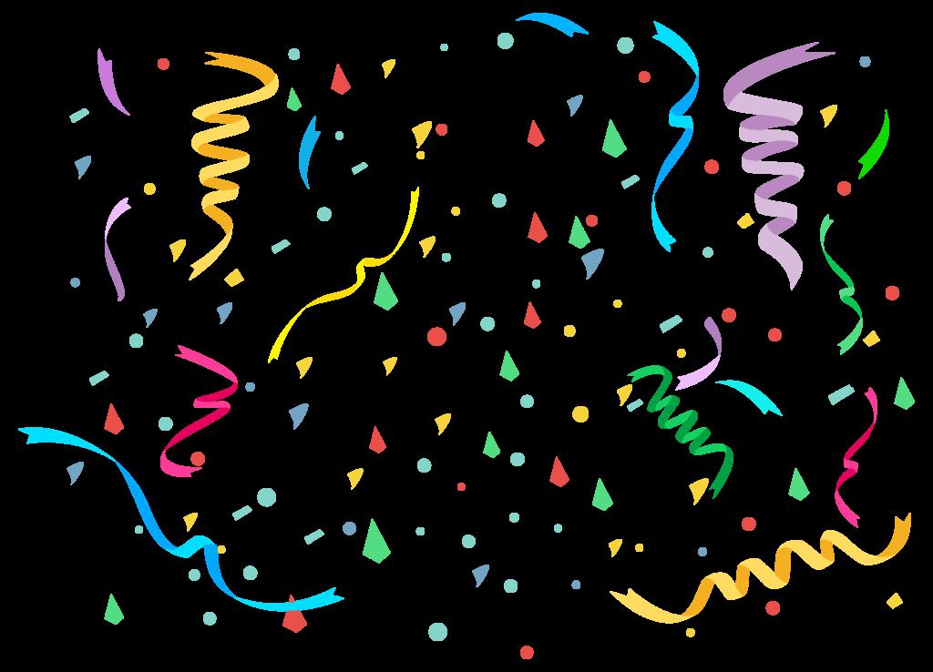 конфетти на прозрачном фоне